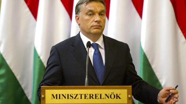 Le Premier ministre hongrois Viktor Orban, le 25 juillet 2012 à Budapest [ / AFP/Archives]