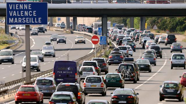 L'autoroute A7 entre Vienne et Valence, le 4 août 2012 [Philippe Desmazes / AFP/Archives]