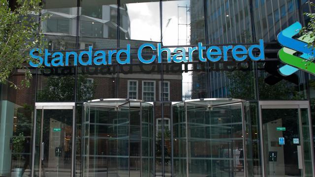 Le siège de la Standard Chartered, à Londres [Will Oliver / AFP/Archives]