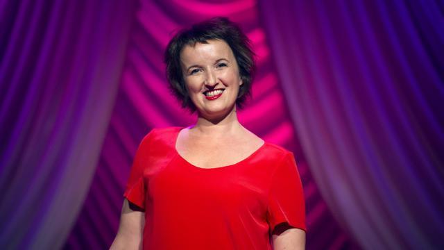 L'humoriste Anne Roumanoff, photographiée le 7 août 2012 au Théâtre du Palais-Royal à Paris [Lionel Bonaventure / AFP/Archives]