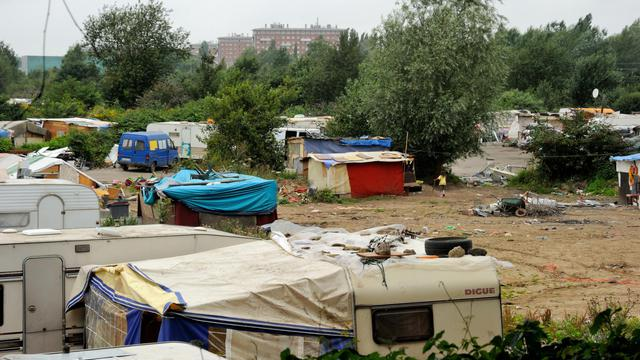 Un campement rom à Lille le 8 août 2012 [Philippe Huguen / AFP/Archives]