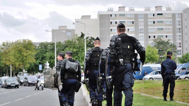 Patrouille de police dans les quartiers HLM d'Amiens, le 14 août 2012 [Philippe Huguen / AFP/Archives]