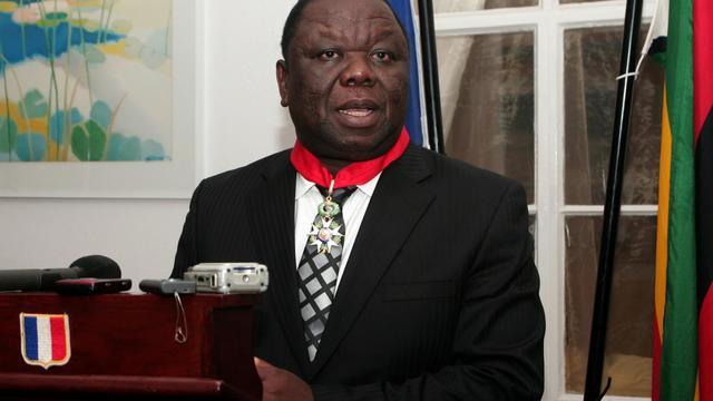 Le Premier ministre zimbabwéen Morgan Tsvangirai le 21 août 2012 à Harare [Jekesai Njikizana / AFP/Archives]