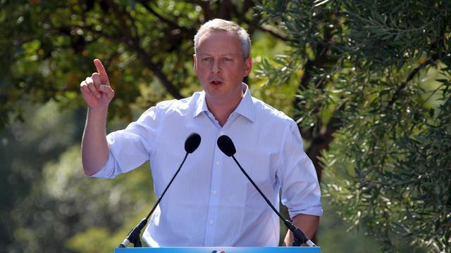 """L'ancien ministre Bruno Le Maire a indiqué lundi être """"loin du compte"""" concernant les parrainages requis pour briguer la présidence de l'UMP, mais a assuré qu'il irait jusqu'à la date limite fixée par son parti. [AFP]"""