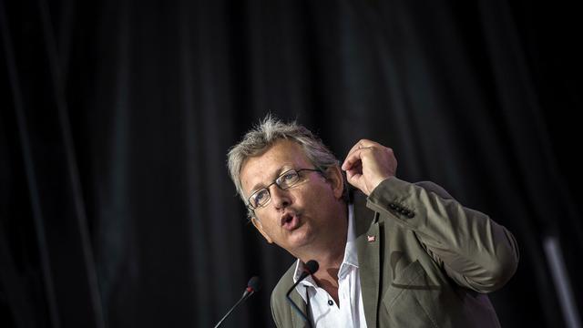 Pierre Laurent, secrétaire nationale du PCF, le 26 août 2012 à Saint-Martin-d'Hérès, près de Grenoble [Jeff Pachoud / AFP/Archives]