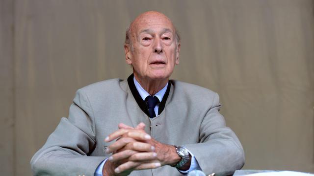 Valery Giscard d'Estaing le 26 août  2012 à Chanceaux-pres-Loches [Alain Jocard / AFP]