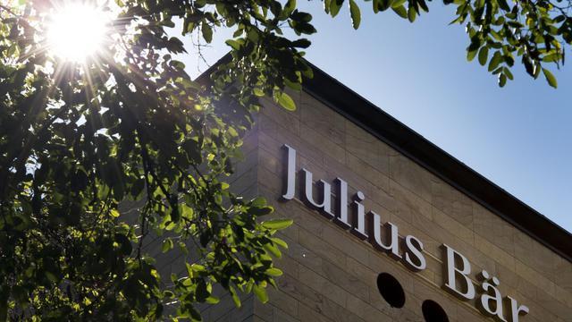 La facade de la banque privée suisse Julius Baer en août 2012 à Genève [Fabrice Coffrini / AFP]