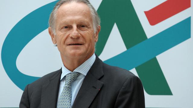 Le directeur général de Crédit Agricole SA Jean-Paul Chifflet pose le 28 août 2012 au siège de la banque à Montrouge [Eric Piermont / AFP/Archives]