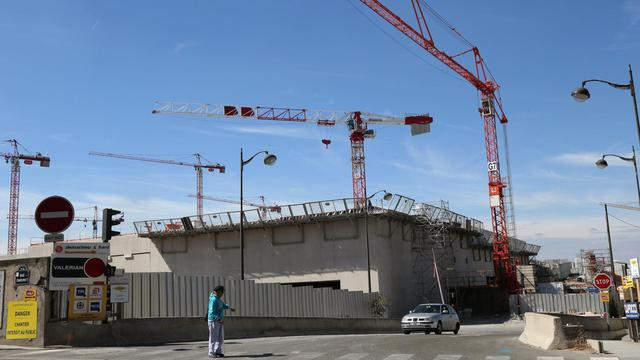 Des logements sociaux en construction à Paris, dans le quartier des Batignolles, le 1er septembre 2012 [Jacques Demarthon / AFP/Archives]