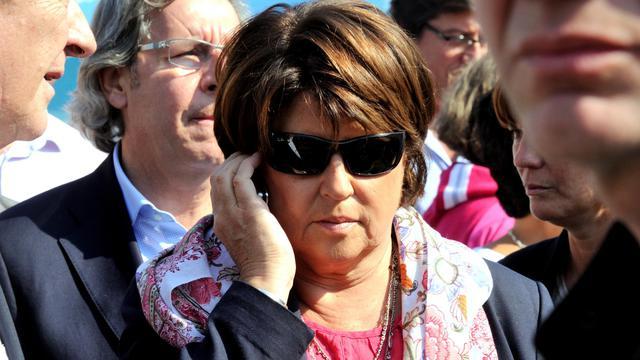 Martine Aubry, anciennement Première secrétaire du PS, photographiée le 1er septembre 2012 à la braderie de Lille [Philippe Huguen / AFP/Archives]
