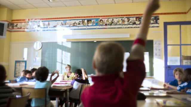 Une classe de primaire à Paris, le 4 septembre 2012 [Fred Dufour / AFP/Archives]