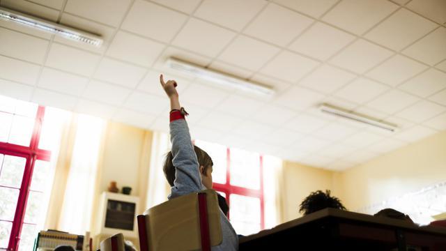 La salle de classe d'une école primaire parisienne [Fred Dufour / AFP/Archives]
