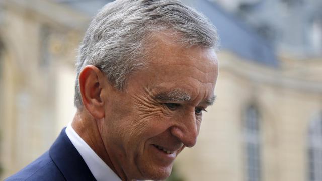Le patron de LVMH, Bernard Arnault, à Matignon, le 5 septembre 2012 [Francois Guillot / AFP/Archives]