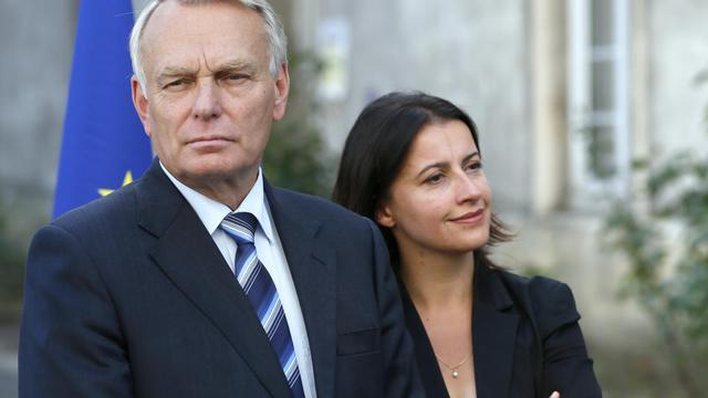 Jean-Marc Ayrault et Cécile Duflot le 7 septembre 2012 à Paris [Patrick Kovarik / AFP/Archives]