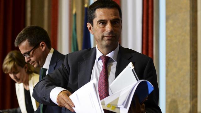 Le ministre portugais des Finances Vitor Gaspar, le 11 septembre 2012 à Lisbonne [Francisco Leong / AFP/Archives]