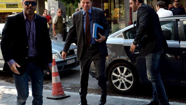 Le représentant du FMI, Poul Thomsen, arrive le 12 septembre 2012 au ministère des Finances à Athènes [Aris Messinis / AFP/Archives]