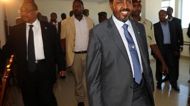 Le nouveau président somalien Hasan Sheikh Mahmud, le 12 septembre 2012 à Mogadiscio [Simon Maina / AFP/Archives]