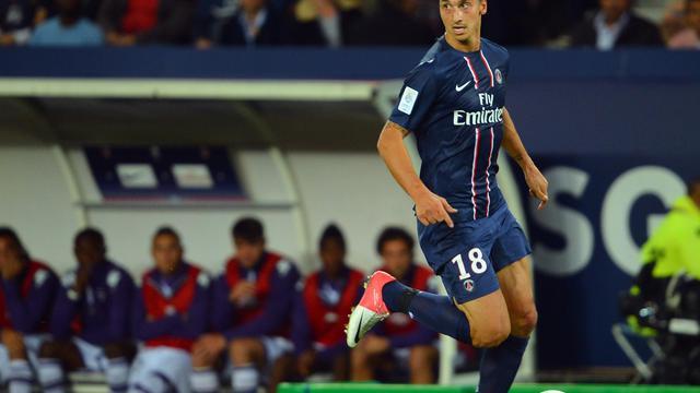 Zlatan Ibrahimovic, le buteur suédois du Paris SG, contre Toulouse en Ligue 1 le 14 septembre 2012 au Parc des Princes [Miguel Medina / AFP]