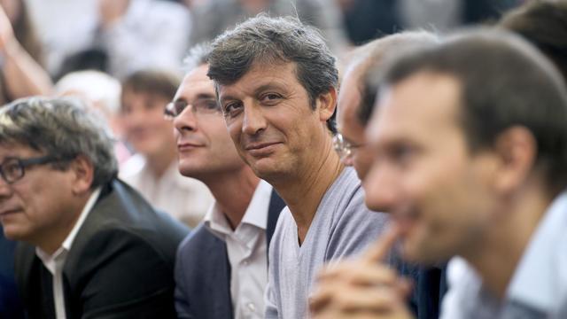 David Assoulin (c) à la fête de l'Humanité, le 15 septembre 2012 à La Courneuve, près de Paris [Fred Dufour / AFP/Archives]