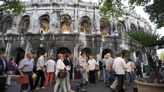 Arrivée du public le 16 septembre 2012 aux arènes de Nîmes [Pascal Guyot / AFP/Archives]