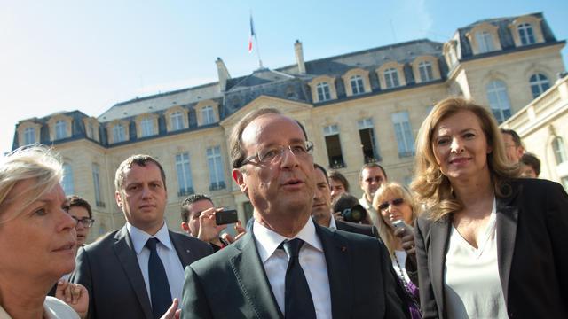 François Hollande et Valérie Trierweiler le 16 septembre 2012 à l'Elysée [Bertrand Langlois / AFP/Archives]