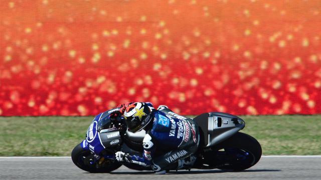 Le pilote espagnol Jorge Lorenzo au guidon de sa Yamaha au GP de Saint-Marin moto le 16 septembre 2012 à Misano [Giuseppe Cacace / AFP]