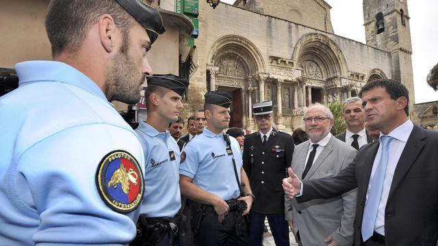 Le ministre de l'Intérieur Manuel Valls, le 17 septembre 2012 à Saint-Gilles (Gard) [Pascal Guyot / AFP]