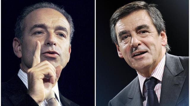 Photomontage de Jean-François Copé (gauche) et François Fillon [Nicolas Tucat / AFP/Archives]