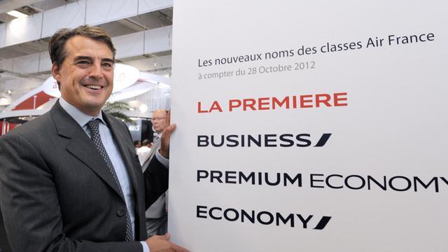 Le PDG d'Air France Alexandre de Juniac le 18 septembre 2012 à Paris [Eric Piermont / AFP]