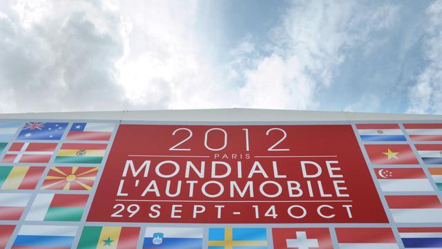 Vue de l'entrée du Mondial de l'automobile le 18 septembre 2012 à Paris [Eric Piermont / AFP]