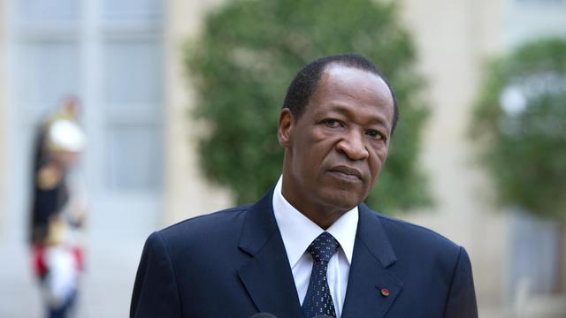 Blaise Compaoré, président du Burkina Faso, le 18 septembre 2012 à Paris [Bertrand Langlois / AFP/Archives]