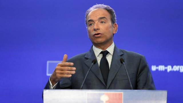 Le secrétaire général de l'UMP, Jean-François Copé, lors d'une conférence de presse, le 19 septembre 2012 à Paris [Kenzo Tribouillard / AFP]