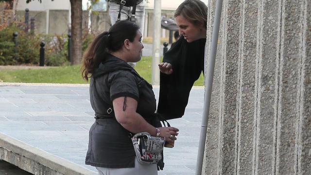 Nina, victime de viols collectifs, le 19 septembre 2012 devant la cour d'assises du Val-de-Marne [Jacques Demarthon / AFP/Archives]