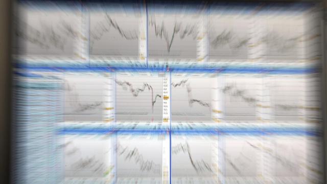 Des écrans d'ordinateur dans une salle de marché [Eric Piermont / AFP/Archives]