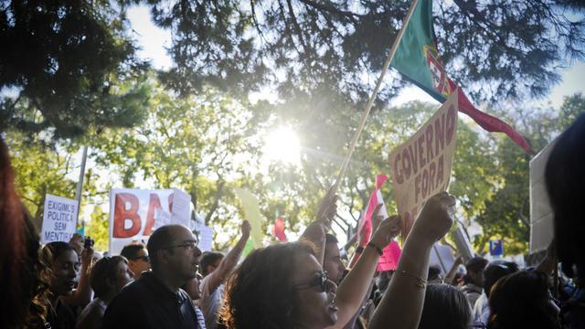 Des Portugais manifestent contre la crise à Lisbonne le 21 septembre 2012 [Patricia de Melo Moreira / AFP/Archives]