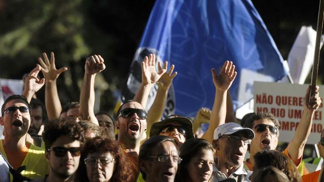 Manifestation contre l'austérité le 21 septembre 2012 à Lisbonne [Patricia de Melo Moreira / AFP]