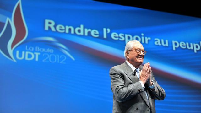Le président d'honneur du Front national Jean-Marie Le Pen lors de l'université d'été du parti, le 22 septembre 2012, à La Baule (Loire-Atlantique), dans l'ouest de la France [Alain Jocard / AFP]