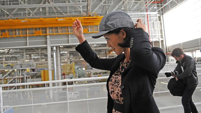 Fleur Pellrin en visite à l'usine Airbus de Toulouse, le 24 septembre 2012 [Remy Gabalda / AFP/Archives]