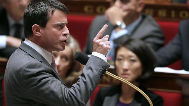 Manuel Valls le 25 septembre 2012 à l'Assemblée nationale à Paris [Kenzo Tribouillard / AFP/Archives]
