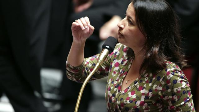 La ministre du Logement Cécile Duflot, le 25 septembre 2012 à l'Assemblée [Kenzo Tribouillard / AFP/Arcvhies]