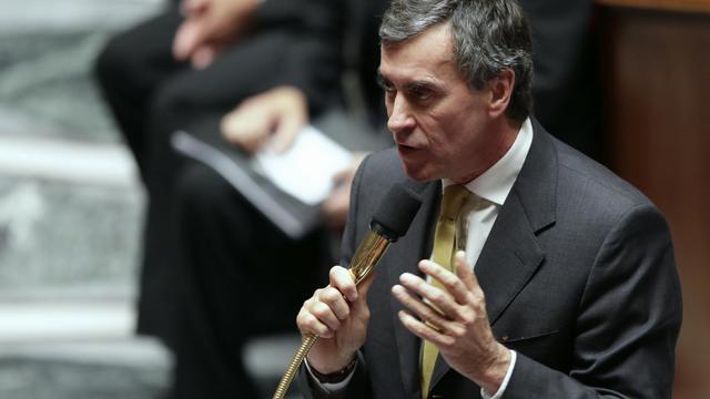 Le ministre du Budget, Jérôme Cahuzac, le 25 septembre 2012 à l'Assemblé nationale à Paris [Kenzo Tribouillard / AFP/Archives]