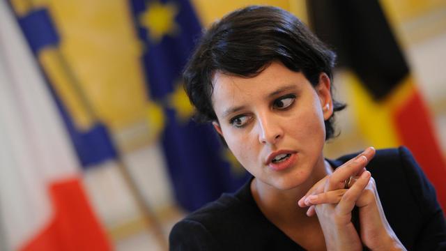 Najat Vallaud-Belkacem, le 25 septembre 2012 à Bruxelles [John Thys / AFP/Archives]