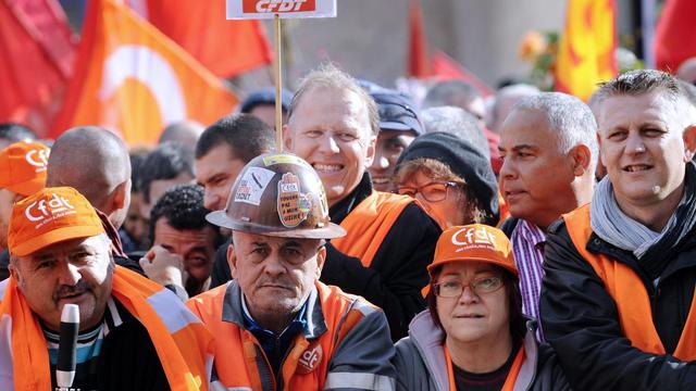 Des ouvriers d'ArcelorMittal à Florange le 27 septembre 2012 [Jean-Christophe Verhaegen / AFP]