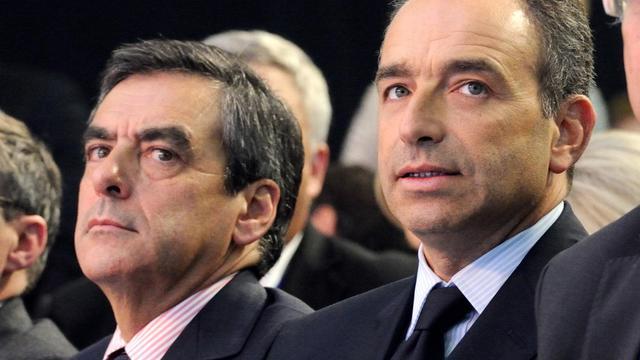 François Fillon (g) et Jean-François Copé, le 27 septembre 2012 à Marcq-en-Baroeul, dans le nord de la France [Denis Charlet / AFP/Archives]