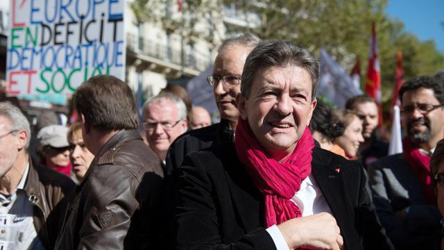 Jean-Luc Mélenchon le 30 septembre 202 à Paris [Bertrand Langlois / AFP]
