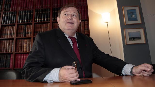 Jean-Pierre Mignard, le 1er octobre 2012 à l'occasion d'une conférence de presse à Paris [Jacques Demarthon / AFP/Archives]