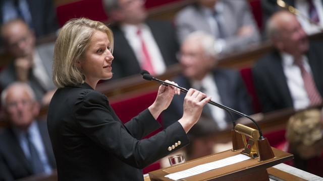 Barbara Pompili, coprésidente du groupe des députés écologistes, le 2 octobre 2012 à Paris [Lionel Bonaventure / AFP/Archives]