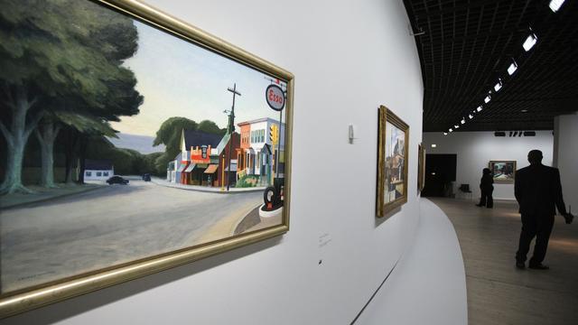Des toiles du peintre américain Edward Hopper au Grand Palais à Paris, le 5 octobre 2012 [Joel Saget / AFP/Archives]