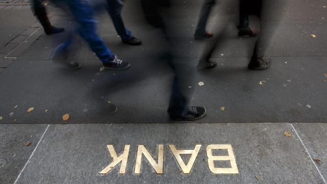 L'entrée d'une banque à Zurich [Fabrice Coffrini / AFP/Archives]