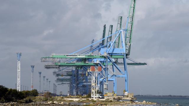 Terminal de Containers de Fos-sur-Mer le 17 octobre 2012 [Anne-Christine Poujoulat / AFP/Archives]